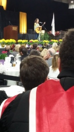 Before all of the adventures, we kicked off our trip at a prayer breakfast at Oakland University. Their speaker was none other than Amy Grant! I'll be honest, I haven't listened to a lot of her music. However, she seemed like a very down-to-earth person despite all of her success. We sang the National Anthem with her, said hi, and got to take a picture with her before leaving for Illinois.