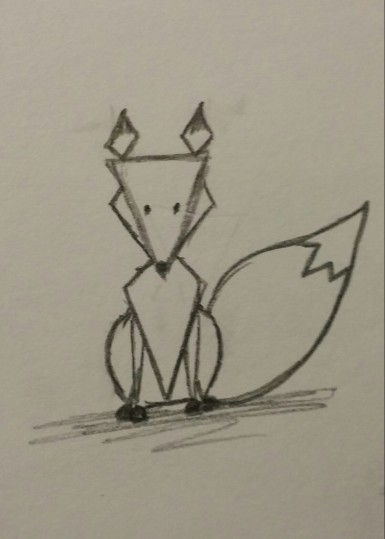 Geometric Fox, Pencil on Paper, 21 November 2015